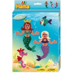 Havfruer og søhest, 2000 HAMA midi perler