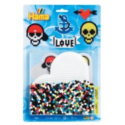 Kranier og kærlighed, 1100 HAMA midi perler