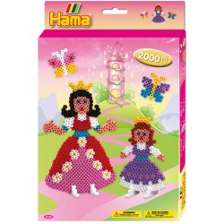 Prinsesser og sommerfugle. 2000 HAMA midi perler