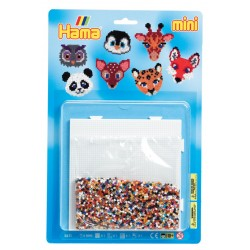 Dyrehoveder, ugle, giraf, ræv, panda m.fl. - HAMA Mini perler