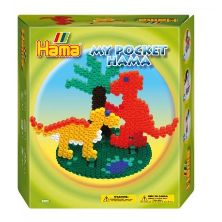 Dinosaurer. My Pocket Hama. 1000 perler