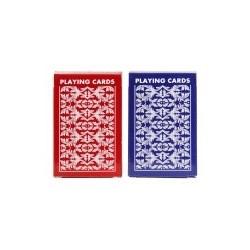 Kortspil. Almindelige spillekort med 4 jokere, rød/blå