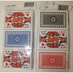 Spillekort klassiske med 4 jokere. Tre-pakker, blå, rød, sort
