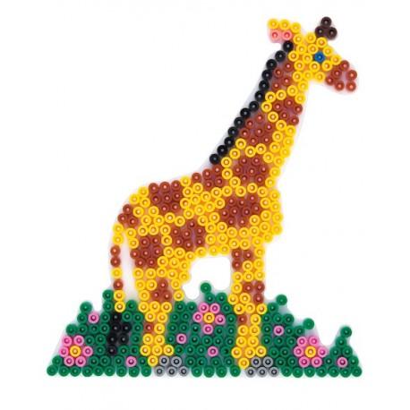 Stiftplade, giraf, 14x16 cm, HAMA Midi perler