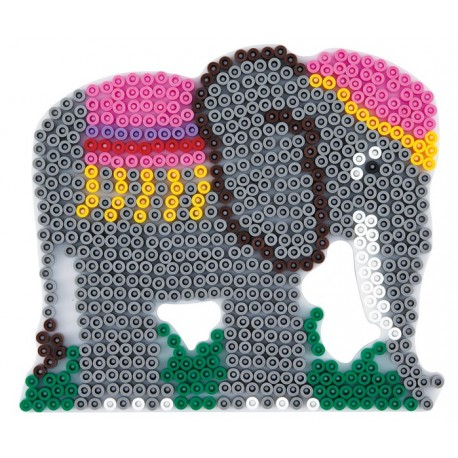 Stiftplade, elefant, 15,5x13,5 cm, HAMA Midi perler