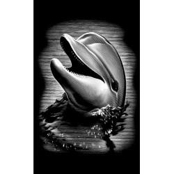Delfin, sølvfarvet MINI kradsfolie/skrabefolie, PPSFM4