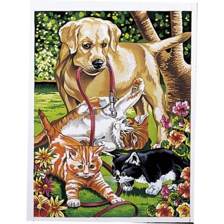 Mal efter tal, hund og katte. Reeves PPNJ26