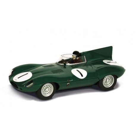 Jaguar D-type nr. 1. Mike Hawthorn, Desmond Titterington. Scalextric C3486