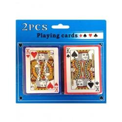 Spillekort klassiske med 2 jokere. Dobbeltpakke.