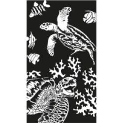 Skildpadder, sølvfarvet MINI kradsfolie/skrabefolie, PPSFM9