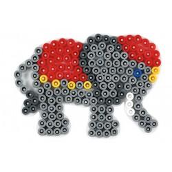Stiftplade, elefant 9,5x6,5 cm, HAMA Midi perler