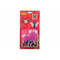 Hjerte og sommerfugl, 450 HAMA midi perler