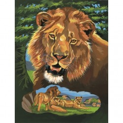 Mal efter tal, løve. Reeves PPNJ38