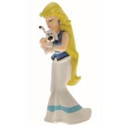 Lillefix holder Idefix, flot, dekoreret figur fra Asterix, samlerobjekt