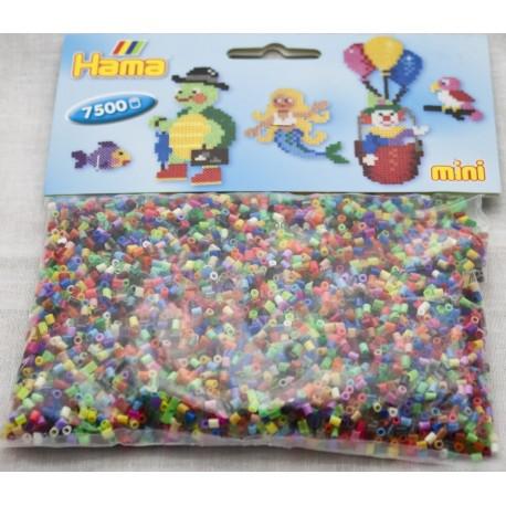 7500 blandede rørperler - HAMA Mini perler
