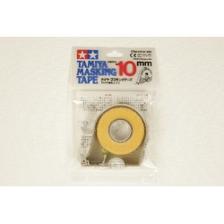 Afmaskningstape 10 mm m. dispenser, Tamiya