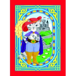 Spillekort med den Bestøvlede Kat, 52 kort, 2 jokere. eeBoo