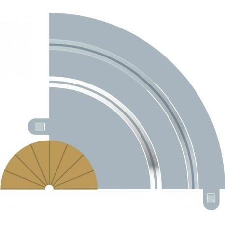 Afgrænsning og barriere, indvendig, radius 1, 2 stk, Scalextric