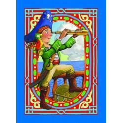 Spillekort med piratmotiver, 52 kort, 2 jokere. eeBoo