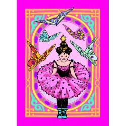 Spillekort med prinsesse og sommerfugle, 52 kort, 2 jokere. eeBoo