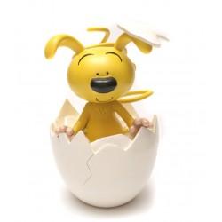 Sparebøsse: Babyspiril i æg. 20 cm høj.
