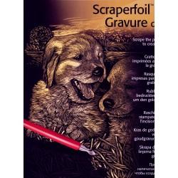 Hundehvalpe, kobberfarvet kradsfolie/skrabefolie, PPCF21