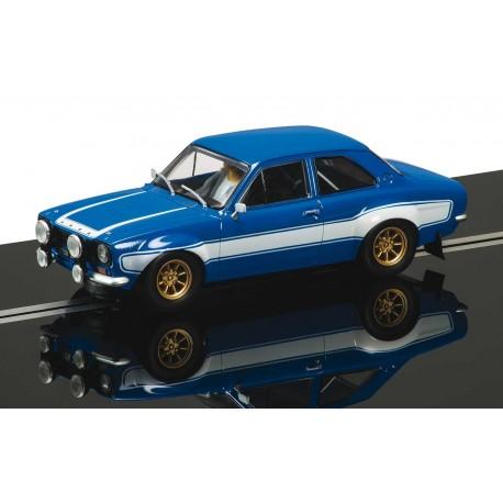 Ford Escort Mk I, blå og hvid. Scalextric C3592