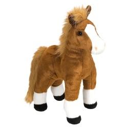 Hest, brun, stående, Cuddlekin, 30 cm