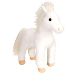 Hest, hvid, stående, Cuddlekin, 30 cm
