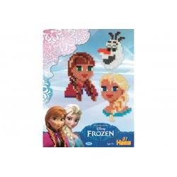 Disney Frost, Frozen, ansigter Anna, Elsa, Olaf, 2000 HAMA midi perler