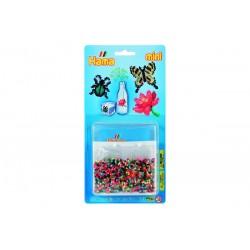 Bille, blomst og sommerfugle - miniperler