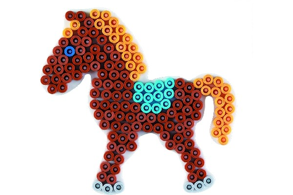 hama perler hest