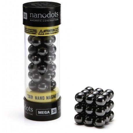 Nanodots, MEGA. Store magnetkugler af keramisk ferrit, 30 styk sort