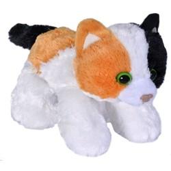 Kat, calico, sort, hvid, orange. Beanbag 18 cm