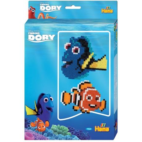Find Dory perleæske med Dory og Nemo. 2000 Hama Midi 7960