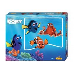 Find Dory perleæske med Dory, Nemo, Hank. 4000 Hama Midi 7960