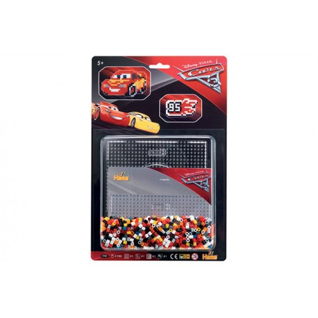 Disney Cars 3, Lynet McQueen og 95-logo, 1100 HAMA midi perler