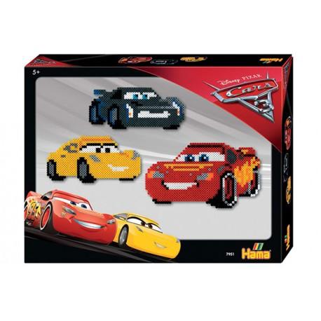 Disney Cars 3, Lynet McQueen, Jackson Storm og Cruz Ramirez. 4000 Hama midi perler