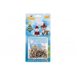 Juletræ, rensdyr, isbjørn, snefnug. Jul. Hama Miniperler 5514