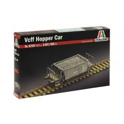 Vcff Hopper Car. Togvogn, byggesæt. H0. 1:87. Italeri 8707