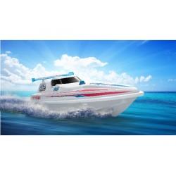 Fjernstyret speedbåd. Wave Predator. 16 km/h. 27 MHz. Sejlklar.
