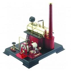 Dampturbine, 500 ml kedel, dynamo, transmission. Wilesco T125