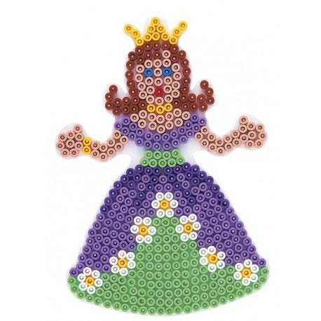 Stiftplade, prinsesse, 16,5x12 cm, HAMA Midi perler, eksempel