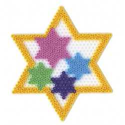 Stiftplade, stjerne, 6 spidser, 16,5 cm, HAMA Midi perler, eksempel