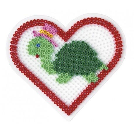 Stiftplade, hjerte, 15 cm, HAMA Midi perler, eksempel