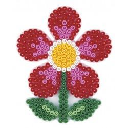 Stiftplade, blomst, 12x9,5 cm, HAMA Midi perler