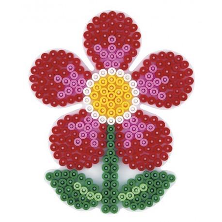 Stiftplade, blomst, 12x9,5 cm, HAMA Midi perler, eksempel