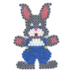 Stiftplade, kanin, 12,5x9 cm, HAMA Midi perler, eksempel