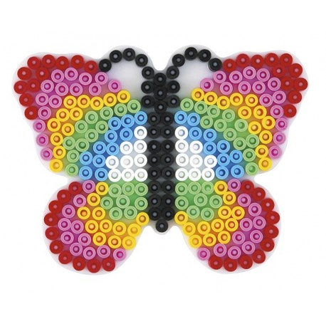 Stiftplade, sommerfugl, 8x10,5 cm, HAMA Midi perler, eksempel