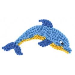 Stiftplade, delfin, 8x15 cm, HAMA Midi perler, eksempel
